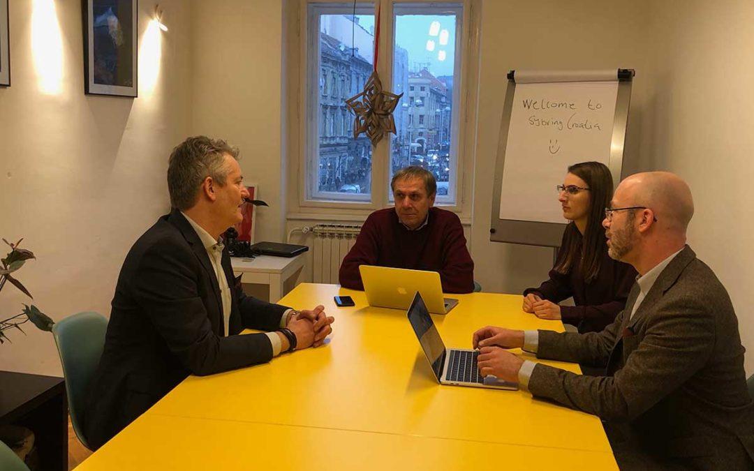 Office meeting in Zagreb